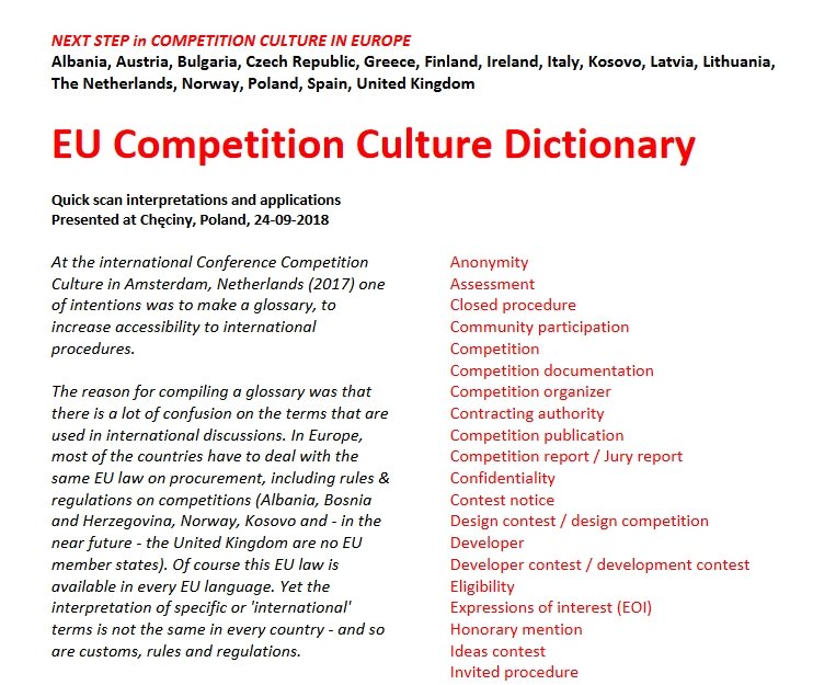EU Competition Culture Dictionary